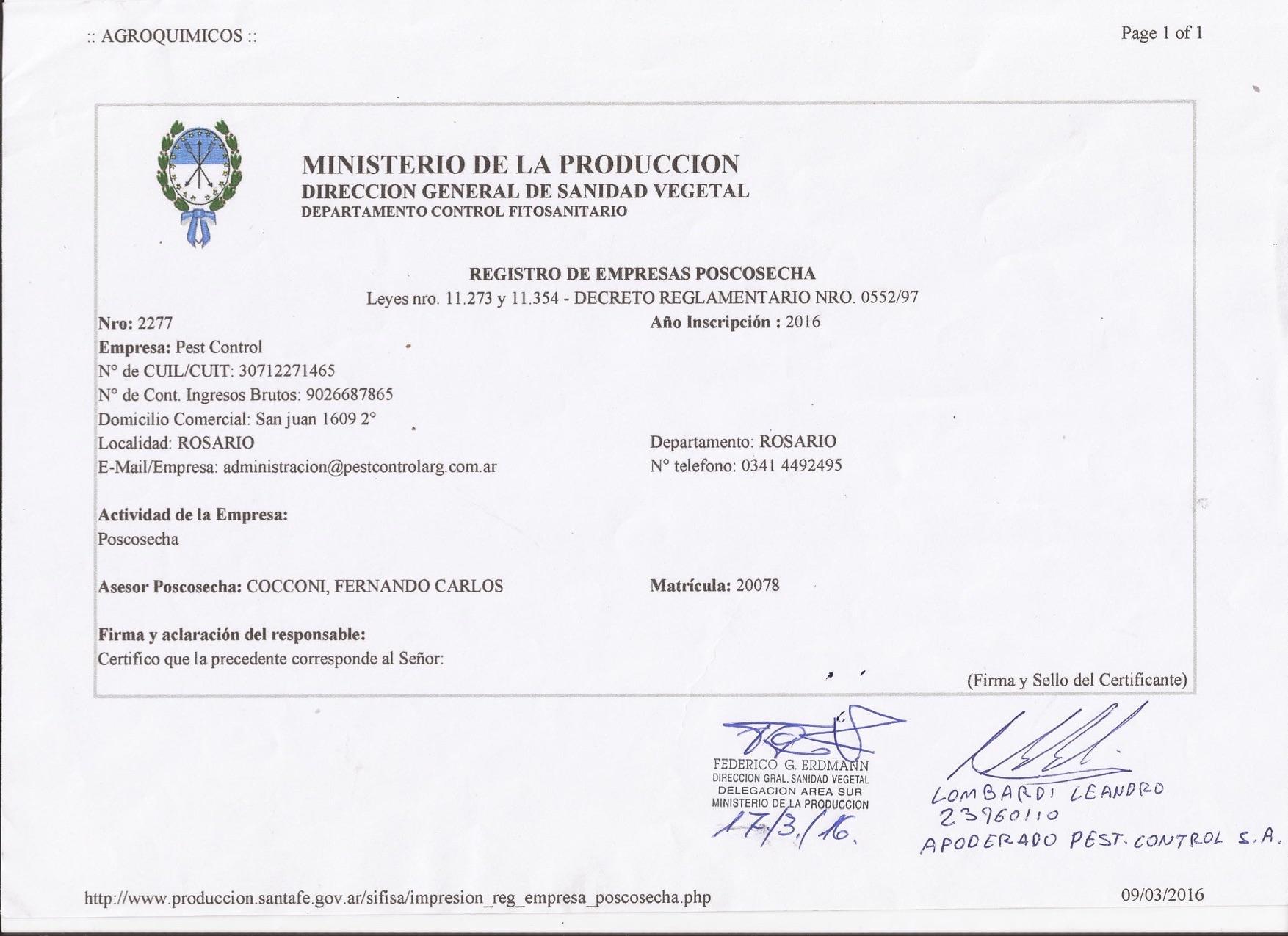 Ministerio de la producci n direcci n gral de sanidad for Ministerio produccion